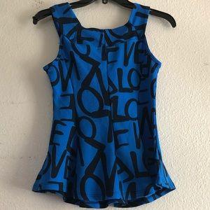 Blue love top